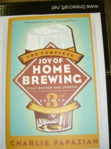 The Joy Of Home Brewing This is what we call the home brewer'€™s bible. Its written by Charlie Papazian